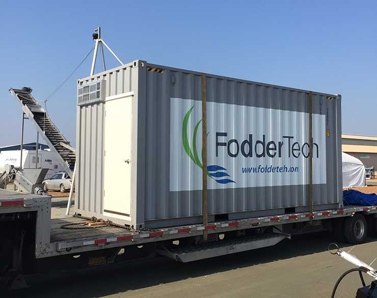 FodderTech containerized system being delivered